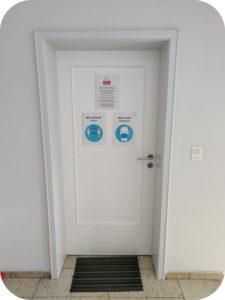 Eingang Praxis für Augenheilkunde Augsburg